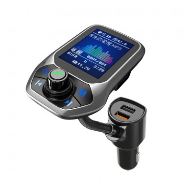 Bakeey 2.4A QC3.0 LED Display Hand-free MP3 Player bluetooth FM Transmitter Fast Charging Car Charger For iPhone XS XR 11 Pro Hu