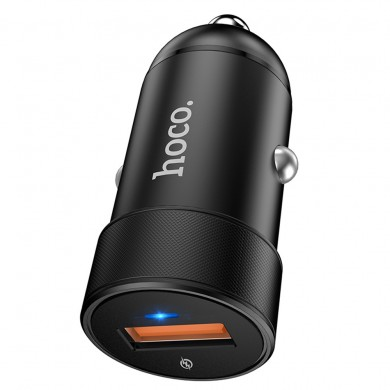 HOCO 18W QC3.0 LED Light Fast Charging USB Car Charger For iPhone XS XR 11 Pro Huawei P30 Pro Mate 30 Oneplus 6T 7 Pro S10+ Note