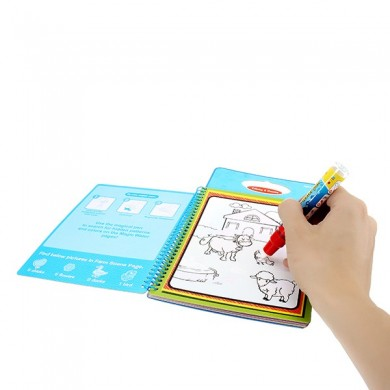 Coolplay Magic Children Water Dessin Book With 1 Magic Pen / 1Colouing Book Water Painting Board