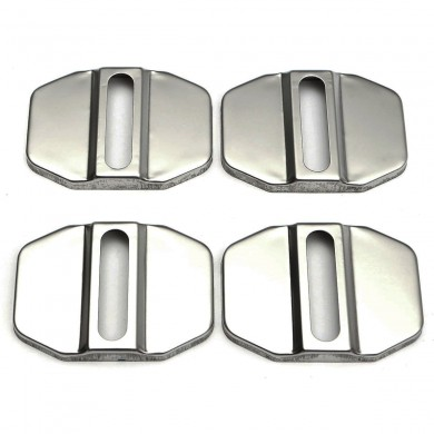 Auto Stainless Steel Door Lock Protective Covers Cap Decortive Accessories