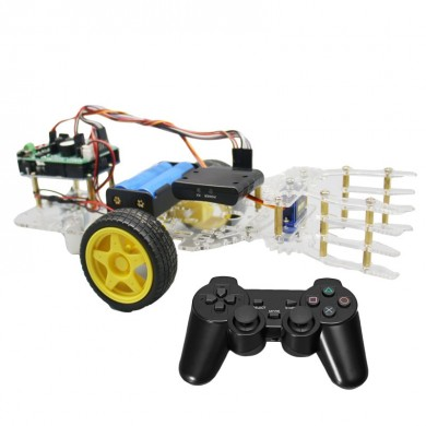 DIY Self-assemble Robot Car Arm with Wireless PS2 Remotro Control Arduino Board