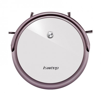isweep D520 Robot Vacuum Cleaner Mobile Phone APP Intelligent Control 350ML Water Tank 2500mAh Lithium Battery - Purple