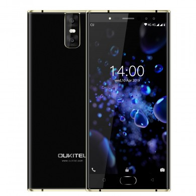 Oukitel K3 Pro Global Version 5.5 pouces FHD Android 9.0 6000mAh Déverrouillage de visage 4GB RAM 64GB ROM MT6763 Octa Core 2.0G