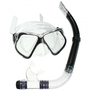 Silicone Scuba Diving Equipment Dive Mask Dry Snorkel Set Snorkeling Gear