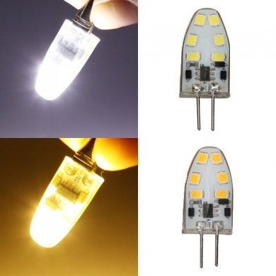 G4 Dimmable 2W LED Bulb 180lm 12 SMD 2835 Pure White/Warm White Corn Light Spotlight AC/DC 12V