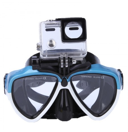 IPRee Summer Stent Goggles with Camera Bracket Anti Fog Silicone Diving Snorkeling Swimming Glasses Mask