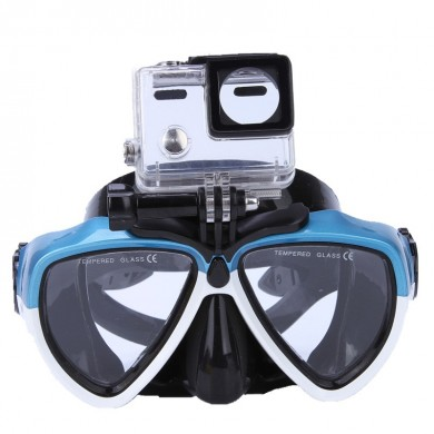 IPRee Summer Stent Goggles with Camera Bracket Anti Fog Silicone Mergulho Snorkeling Natação Óculos Máscara