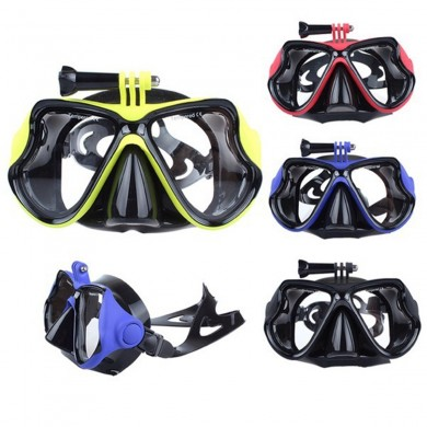 Mergulho Máscara Scuba Snorkel Water Goggles Face Óculos Mount For GoPro Hero 4