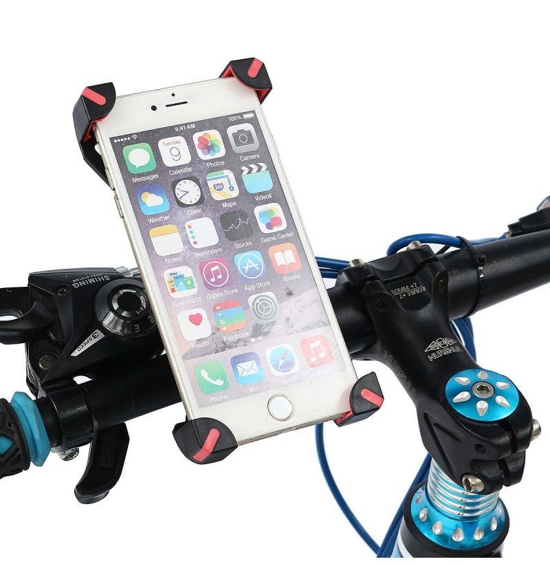 Adjustable 360 Degree Rotation Bike Bicycle Motorcycle Handlebar Phone Holder Mount for Xiaomi Mobile Phone Under 6.5
