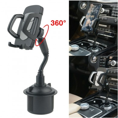 Universal 360° Adjustable Car Mount Gooseneck Cup Car Phone Holder Cradle For Cell Phone