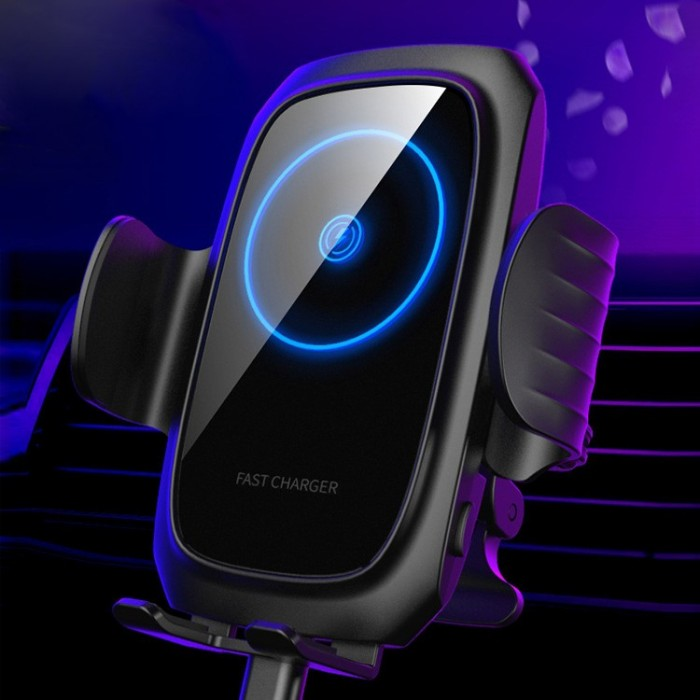 Bakeey 15W Qi Wireless Charger Fast Charging Smart Sensor Clamping Air Vent Car Phone Holder For 4.0-6.8 Inch