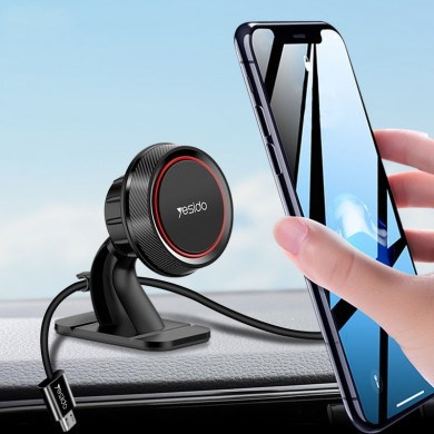 Yesido Magnetic Dashboard Car Phone Holder With Cable Holder For 3.5-7.0 Inch Smart Phone