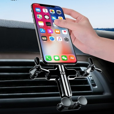 Bakeey Gravity Linkage Automatic Lock Air Vent Car Phone Holder 360 Degree Rotation For 4.0-6.5 Inch Smart Phone iPhone 11 Samsu