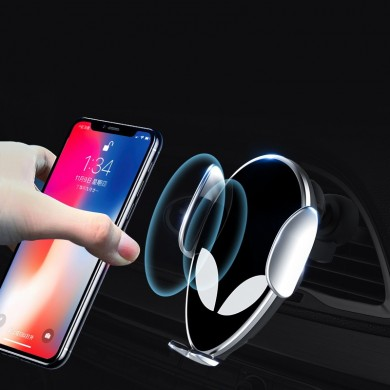 Bakeey 10W Qi Fast Wireless Car Charger Vent Mount Smart Sensor Automatic Clamping Phone Holder for 4.0-7.0 inch Smart Phone