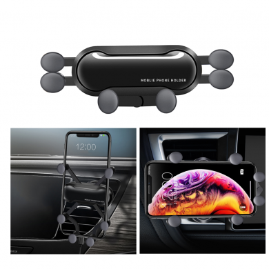 Bakeey Vertical Horizontal Gravity Linkage Automatic Lock Air Vent Car Phone Holder Car Phone Mount For 4.0-6.8 Inch Smart Phone