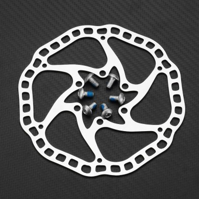 RAMBOMIL F7 160mm/140mm Aluminum Alloy Ultra Light Bike Cycling Brake Disc With Screws Bicycle MTB