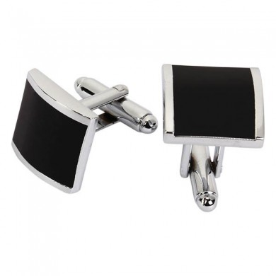 WSC Men Cufflinks Metal Series Stylish Enamel Square Shape Decoraction for Shirts
