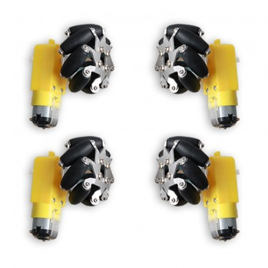 4PCS 50mm Omni Wheels With 1:48 TT Motor For DIY STM32 RC Robot Car