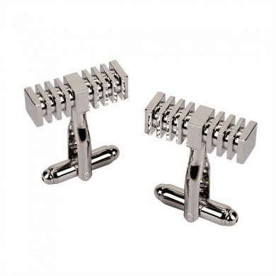Men Cufflinks Plain Metal Geometric Shape Business Decoraction for Shirts