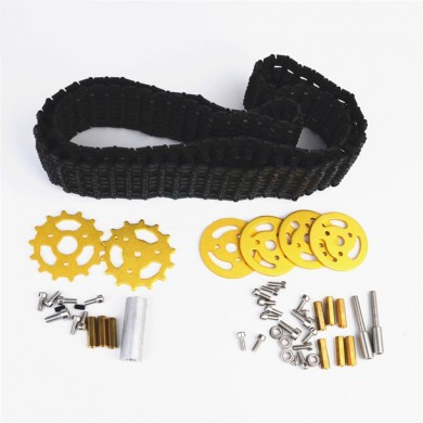 Small Hammer Plastic Tracks Crawler Belt Kit For DIY RC Robot Car Tank