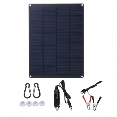 JH-8W 8W 12V/5V 210*165*2.5MM Solar Panel Battery Charger