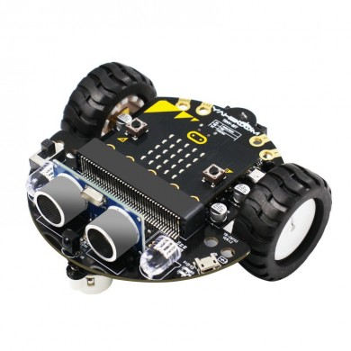 Yahboom Tiny:bit Inexpansive Educational Smart Robot Car Kit with Alligator Clip Interface for Microbit Board