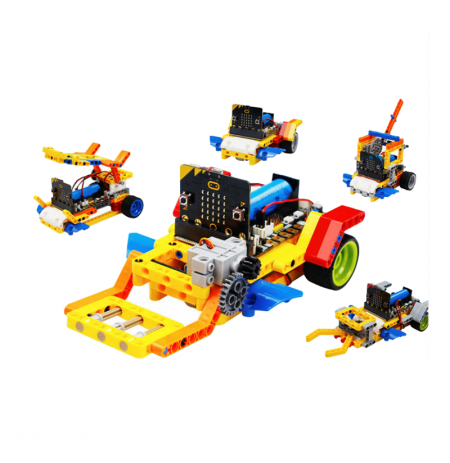 Yahboom Running:bit 5in1 STEAM Educational Programmable Smart Robot Car Bricks Based on Micro:bit Compatible with LEGO