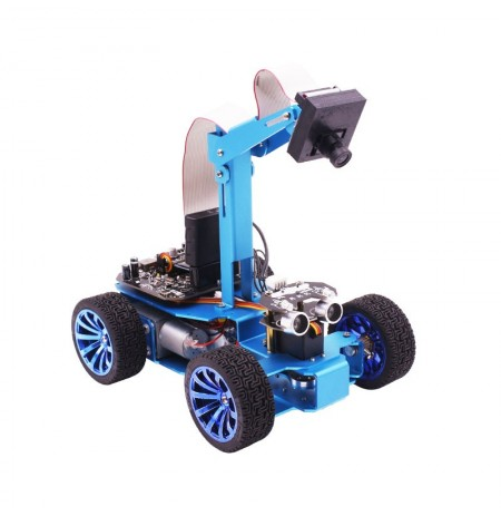 Yahboom STM32 Visual Tracking Smart Robot Car Kit with OV7670 WIFI Camera Module for Programming Education