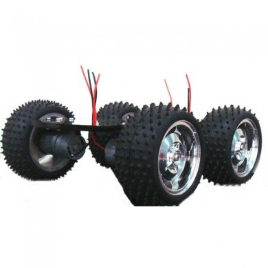 4WD Smart Robot Car Chassis DIY Kit with Large Torque Metal Motor For