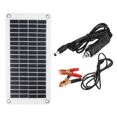 8.5W/18V Portable Solar Panel with Cables for Caravan Boat Camping Charge Battery