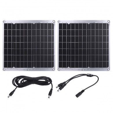30W 12V DC Solar Panel High Efficient Battery Charger Power Bank