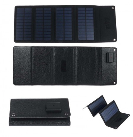 7W 5V Waterproof Foldable Solar Panel USB Battery Power Charger