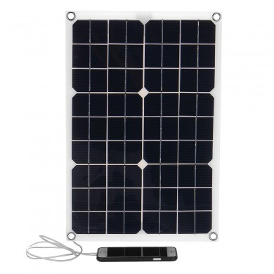 20W 18V Flexible Monocrystalline Solar Panel with USB Charger 12V/5V Solar Controller