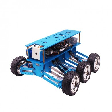 Yahboom 6WD STEM Programable Uno R3 Smart Metal Robot Coche Kit para iniciador educativo