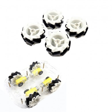 4Pcs/Set 65mm McNahm Wheels Plastic Omnidirectional Wheel with TT Motor Coupling For Smart Robot Car Kit Accessories