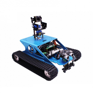 Yahboom G1 Smart Tank Robot Kit con Raspberry Pi 4B Board + WIFI Cámara para Raspberry Pi