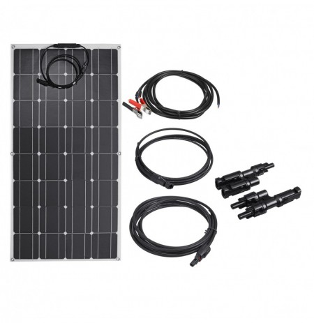 Panel PET flexible Solar de 100 W con cables para la familia al aire libre