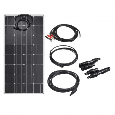 100W Flexible PET Solar Panel with Cables for Outdoor Family