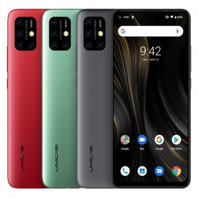 UMIDIGI Power 3 Global Bands Bandas de 6,53 polegadas FHD + Fullview Android 10 6150mAh NFC 48MP AI Câmeras Quad 4GB RAM 64GB RO