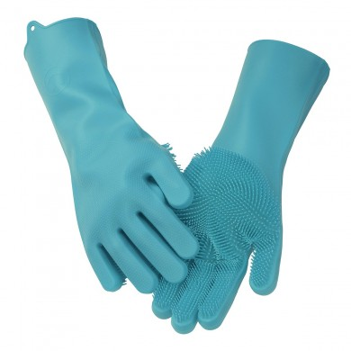 Magic Silicone Rubber Glove Dish Washing Cooking Glove Cleaning Heat Resistant Kitchen Tool