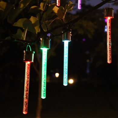 4PCS 19CM solare Power Control Light Impermeabile Colorful LED Lawn Holiday Night lampada per Yard Garden