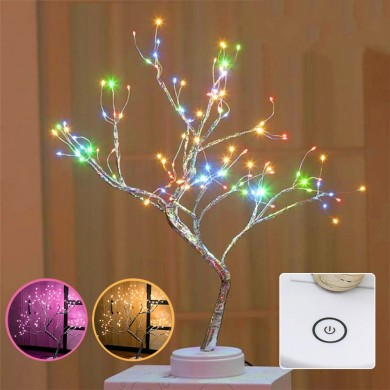 108LED USB Cobre Fio Firefly Árvore Touch Control Night Lamp Lâmpada de Natal String Light Holiday Decoration