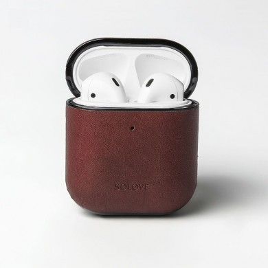 SOLOVE Earphone Bag PU Leather Protective Case bluetooth Earphone Storage Cover for Apple Airpods from Xiaomi Eco-System