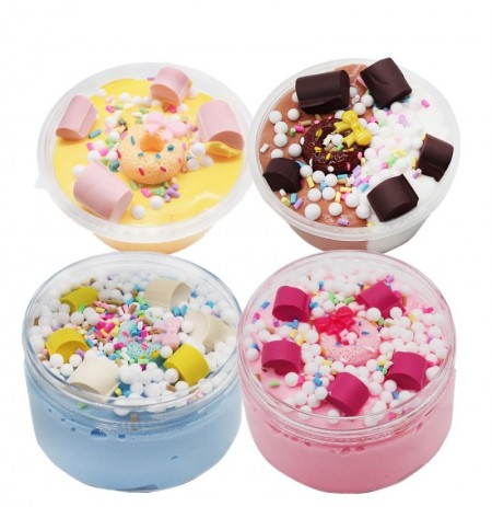 Donut Slime Chocolate Candy Cotton Mud Cloud Clay 100ml Décompression