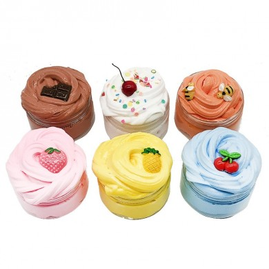 DIY Fruit Slime Fluffy Cotton Mud Multi-color Marshmallow Clay 100ml