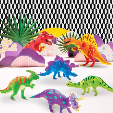 Robotime Clay Dinosaur Series 3D Puzzle Modeling Clay Children's Manual DIY Rubber Color Mud Toys
