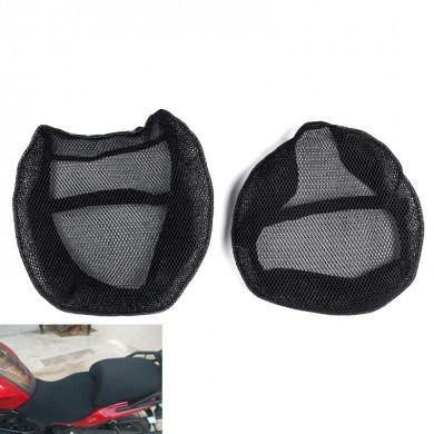 Motorcycle Black Front&Rear Seat Net Covers Pad Guard Breathable For BMW R1200GS ADV 2006-2012/2013-2018