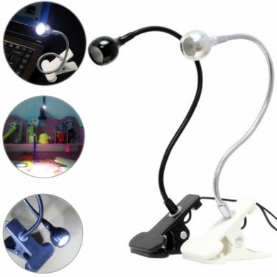 USB Flexible Reading LED Clip-on Beside Bed Table Light Desk Computer Lamp