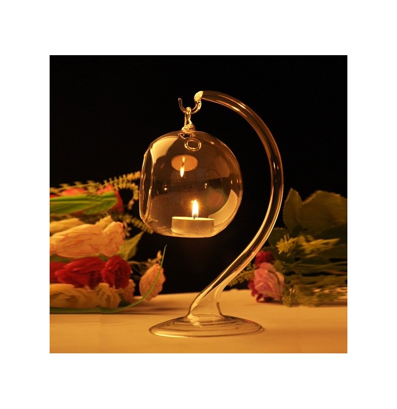 Hanging Crystal Glass Candle Table Light Lamp Planting Holder Candle Stick Romantic Dinner Wedding фото