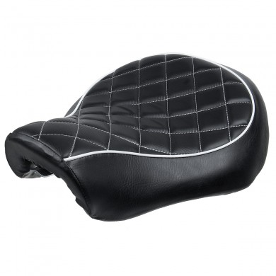 Driver Passenger Two-Up Seat Cushion PU Leather For Harley XL883 XL1200 Black